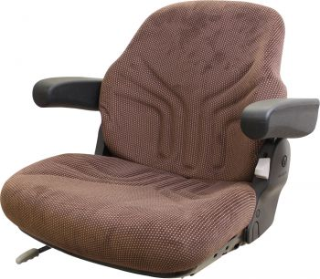 Grammer Seat Assembly, Brown Matrix Fabric for Grammer Suspensions - Side View