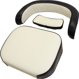 Seat Cushion Kit, Black and White Vinyl