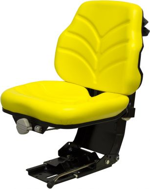 Seat and Suspension Assembly, Yellow Vinyl