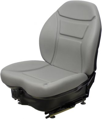 Seat and Suspension Assembly, Gray Vinyl