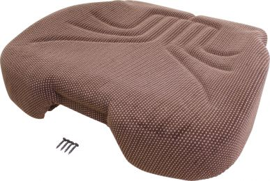 Grammer Seat Cushion, Brown Matrix Fabric - Kit Angle