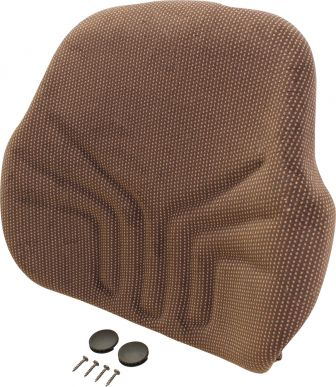 Grammer Seat Back, Brown Matrix Fabric - Angle View