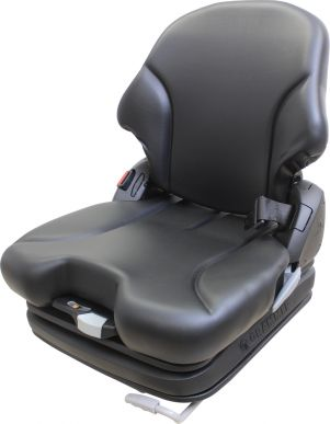 Grammer Seat and Suspension Assembly, Black Vinyl for Bobcat Models - Angle View