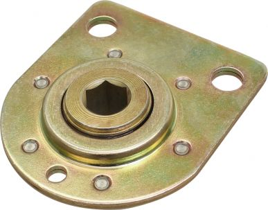 Bearing with Riveted Flange