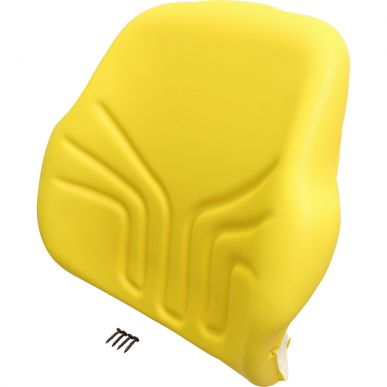 Grammer Seat Back, Yellow Vinyl