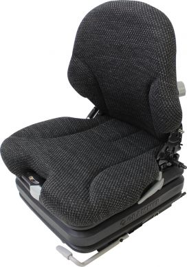 Grammer Seat and Suspension Assembly, Gray Fabric for John Deere Skid Steer Loaders, Track Skid Steer Loaders - Angle View