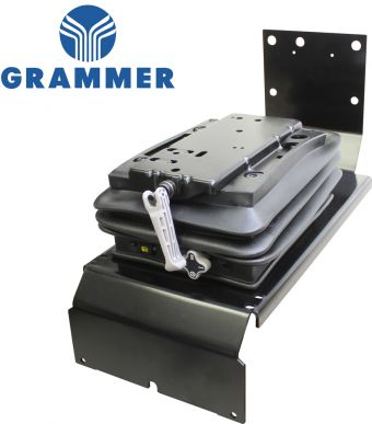 Grammer Mechanical Suspension Conversion Kit for John Deere Tractors - Angle View