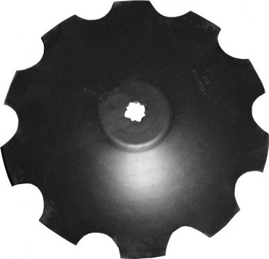 Flat-Centered Disc Blade, Notched Edge