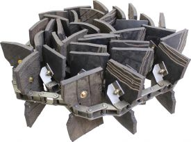 Clean Grain Elevator Chain, Rubber Paddles