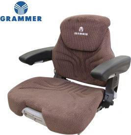 Grammer Seat Assembly, Brown Matrix Fabric