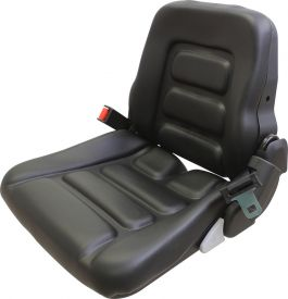 Grammer Seat Assembly, Black Vinyl - Angle View