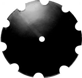 Double-Bevel Disc Blade, Notched Edge