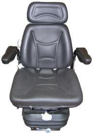 Seat and Suspension Assembly, Black Vinyl